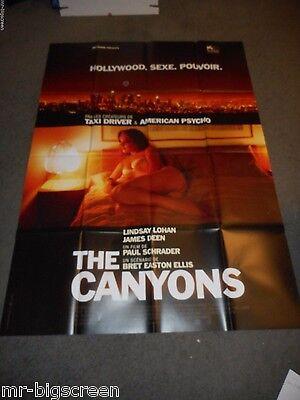 THE CANYONS - ORIGINAL HUGE FRENCH POSTER - LINDSAY LOHAN