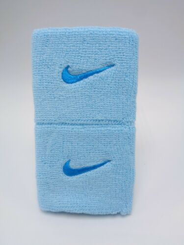 "Nike Swoosh Wristbands Copa/Blue Lagoon 3"" Men"