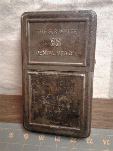 Antique S. S. White Revelation Bur Block Dental Tool Box Holder w/ 26 Bits