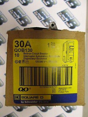 Square D Qob130 30 Amp 120 Volt Circuit Breaker Yellow- New Box Of 10