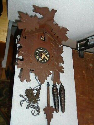 Vintage-German-Cuckoo Clock-To Restore-#E258