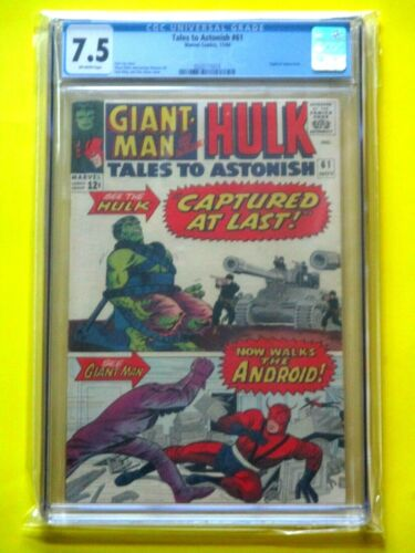 Tales to Astonish #61 - CGC 7.5 - 3rd Hulk in Title; Appearance by Egghead