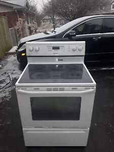 Maytag glass-top stove, free delivery