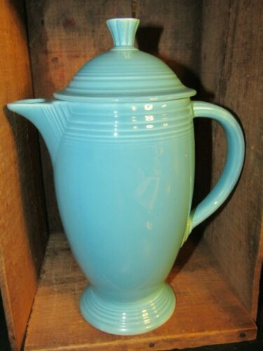BEAUTIFUL VINTAGE FIESTA TURQUOISE REGULAR COFFEEPOT-NICE !!!