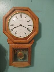 REGULATOR QUARTZ WESTMINSTER CHIME WALL CLOCK with PENDULUM