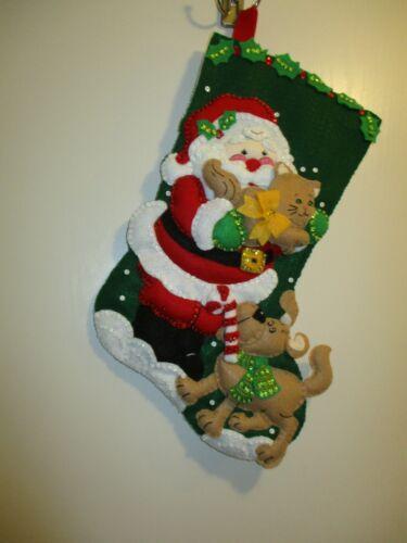 """Bucilla Finished Felt Christmas Stocking  - """"SANTA"""