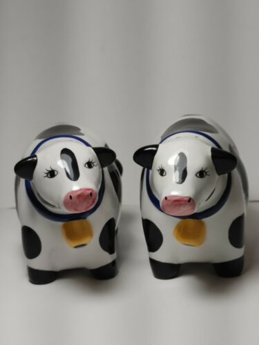 Coco Dowley Cermanic Collectable Cow Salt & Pepper Shakers