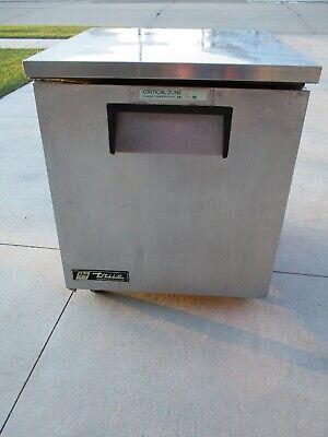True Tuc-27 Commercial Undercounter Refrigerator One Door Stainless Steel