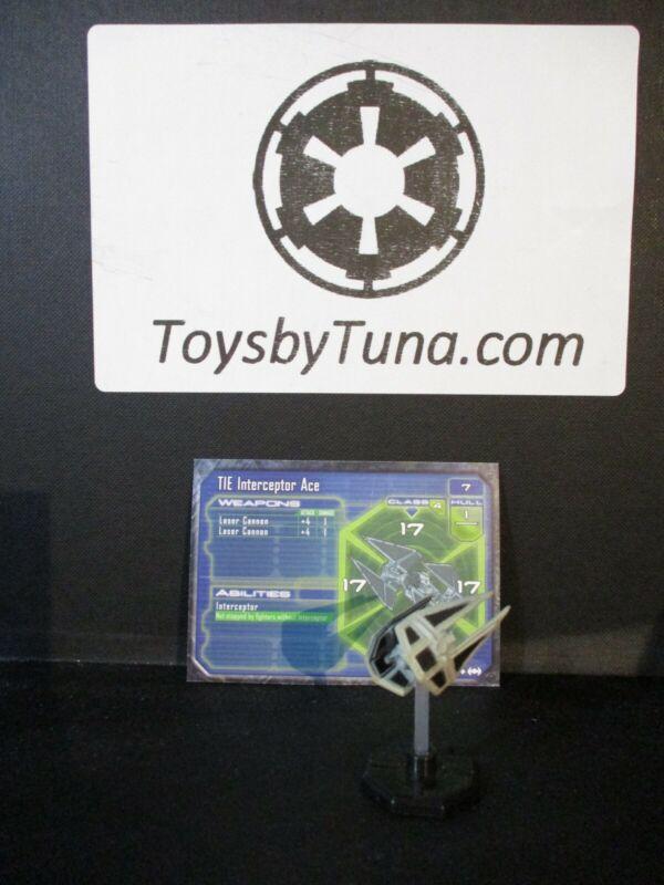 Star Wars Miniatures Starship Battles TIE Interceptor Ace SSB w/ Card mini RPG