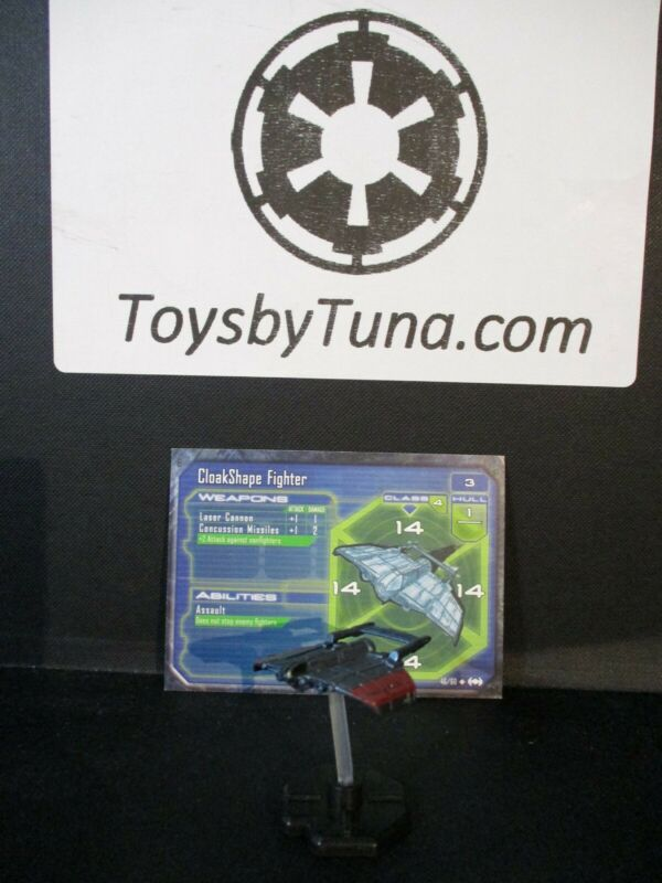 Star Wars Miniatures Starship Battles CloakShape Fighter SSB w/ Card mini RPG