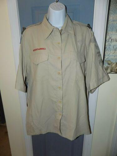 Boy Scouts of America BSA Official Uniform Shirt 100% Polyester Size XL Women