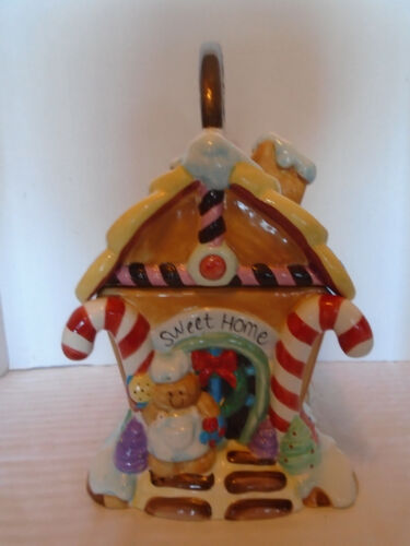 "Home Trends Ceramic 12"" Ginger Bread House Cookie Jar"