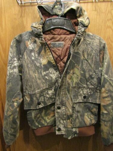 YOUTH JERZEES OUTDOOR INSULATED HOODED CAMO HUNTING  JACKET COAT