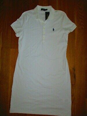 NWT POLO RALPH LAUREN WOMENS DRESS SZ L SZ M WHITE SHORT SLEEVE COTTON SHORT