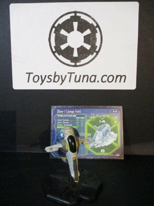 Star Wars Miniatures Starship Battles Slave I (Jango Fett)  w/ Card mini RPG