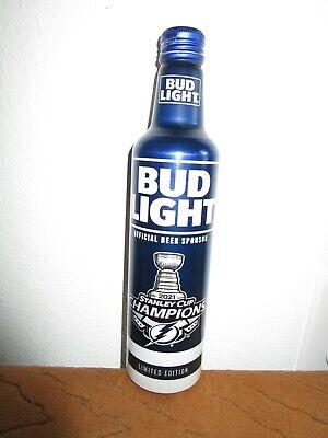 TAMPA BAY LIGHTNING STANLEY CUP CHAMPIONS 16oz BUD LIGHT ALUMINUM BOTTLE (empty)