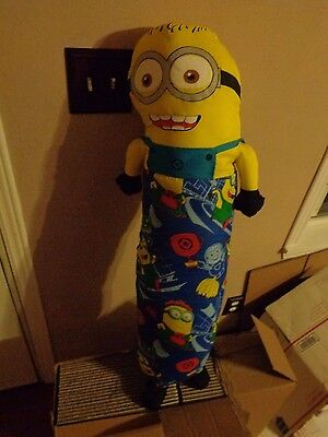 JUMBO PLUSH DOLL FIGURE JORGE JERRY MINION RUSH DESPICABLE ME ZIPPER FOAM PILLOW](Giant Minion)