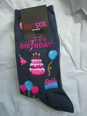HOT SOX Happy Birthday socks for women,  NEW WITH TAG