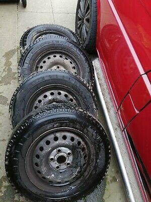 VW TRANSPORTER T4 Wheels & Tyres Michelin 15inch steel OEM VW Old Style