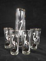 Set Bicchieri Cristallo Pantografati Cigni Crystal Glass Set Pantographed Swans -  - ebay.it