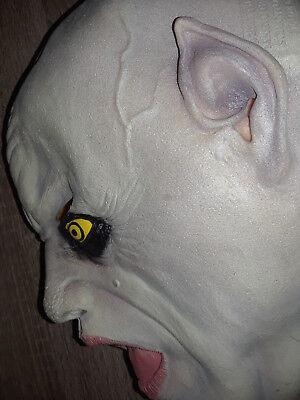 Vintage Nosferatu Vampire Halloween Latex Mask Magic Paper Group Rare VHTF - Vampire Masks Halloween