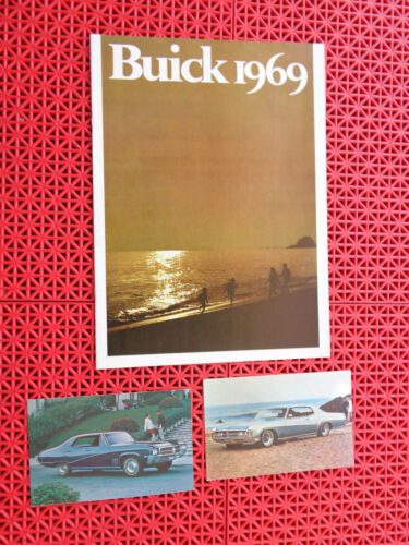 1969 Buick brochure AND 1969 Buick postcard (s)