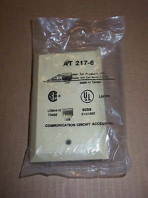 NEW ALLEN TEL PRODUCTS ATP 217-6 Dual Port Wall Plate Jack Dual-port-wall Plate