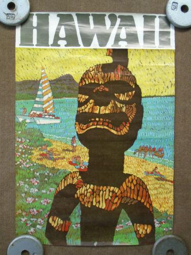 Vintage Hawaii Poster Primal, Native, Indigenous