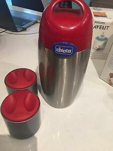 Chicco food thermos with 2 containers Trinity Beach Cairns City Preview