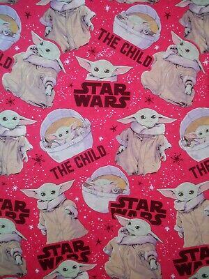 The Mandalorian Child Baby Yoda Gift Wrapping Paper 2 Yards FOLDED Decoupage