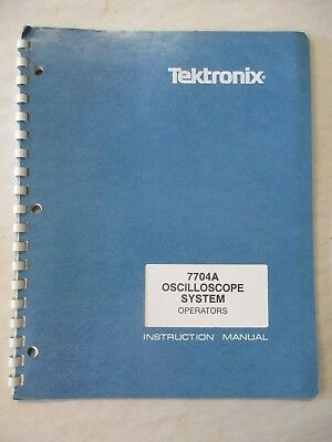 Tektronix 7704a Oscilloscope System Operators Instruction Manual 070-1402-00