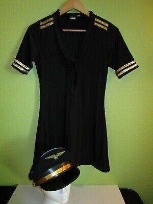 ✈ MILE HIGH CAPTAIN Halloween Dress Costume * Size MEDIUM * VGUC Stewardess - Mile High Captain Kostüm