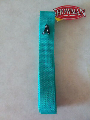(Teal Premium Nylon Off Side Billet Latigo for Western Saddle Girth Cinch)