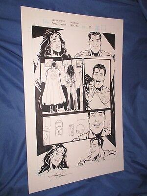 GREEN ARROW/BLACK CANARY #1 Original Art Page #13 by Amanda Conner ~Wedding
