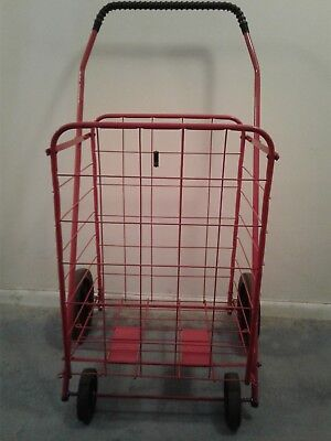 Folding Shopping Cart. Gently Used. Red. Local Pick Up Only