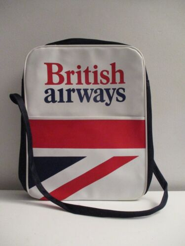 Vintage BRITISH AIRWAYS Carry on CABIN BAG Flight Crew First Class Holdall NOS