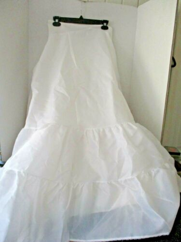 UNDER COVER~White WEDDING BRIDAL SLIP w/ TULLE UNDERNEATH~Women