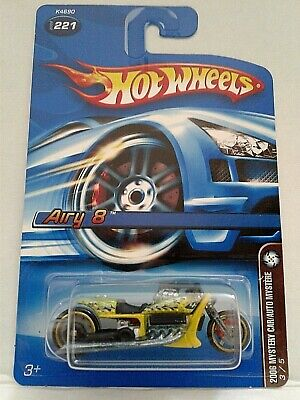HOT WHEELS 2006 MYSTERY CAR/AUTO MYSTERE Airy 8 Motorcycle WITH CAR CASE