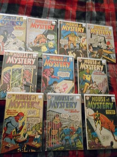 HOUSE OF MYSTERY LOW GRADE LOT(5) 1960-1962