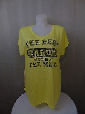 Style & Co Plus Size - Best Cardio is Done at the Mall - Graphic Tee - 2X