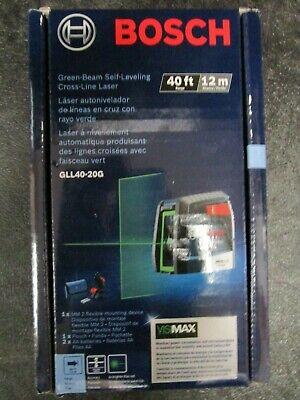 Bosch Gll40-20g Green-beam Self-leveling Cross-line Laser Brand New