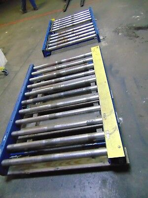 2 Pcs Heavy Duty Chain Driven Pallet Roller Conveyor Sections