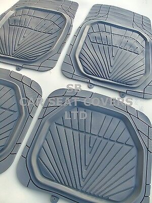 i   TO FIT A FORD RANGER CAR MATS ALL TERRAIN HEAVY PVC RH 001 GREY
