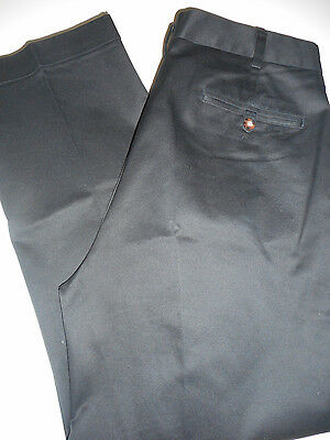 Jos A Bank 34 X 29 Traveler Premium Easy Straight Pleated Front Soot Black Pants