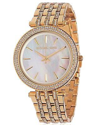 Brand New Womens Michael Kors  Mk3219  Darci Glitz Gold Tone Dial Watch Sale