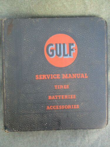 VINTAGE 1969 GULF SERVICE STATION REPLACEMENT SPECIFICATIONS MANUAL BINDER