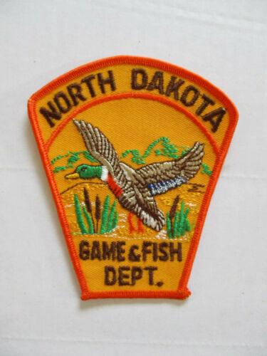 vintage 1968 North Dakota Game & Fish Dept Twill Police Patch MINT USA made
