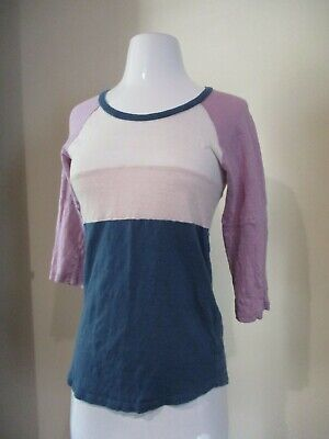 ISABEL MARANT ETOILE pink purple blue stretch pullover blouse shirt top sz S