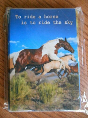 Pack Of 12 Tree-Free Horses Note Cards