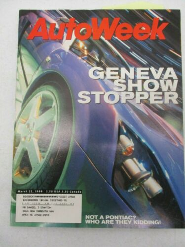 AUTO WEEK MAGAZINE MARCH 22, 1999 GENEVA AUTO MOTOR SHOW AUDIA6 V8 BMW M COUPE